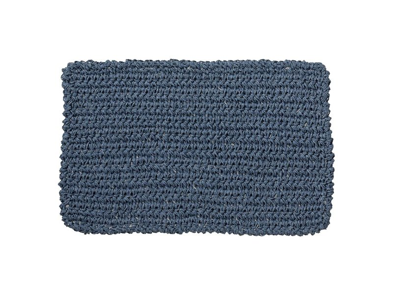 Lene Bjerre Placemat Bessia donkerblauw - 45x30 cm