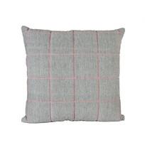 Kussen grijs/roze - 45x45 cm