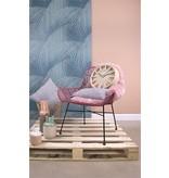 pt, (Present Time) Kussen grijs/roze - 45x45 cm