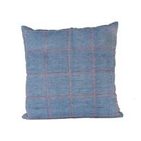 Kussen blauw/oranje - 45x45 cm