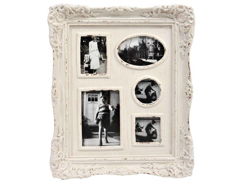 J-Line Multi fotolijst wit - 50,50x5,20x41,5 cm