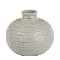 Vaas rond grijs - 37x30 cm