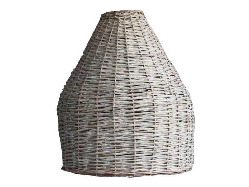 GeWoon Rotan Hanglampenkap Grey - 48xH61 cm