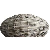 Rotan Hanglampenkap Grey - Ø45xH30 cm