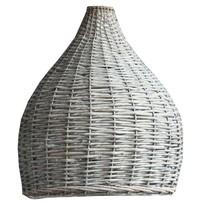Rotan Hanglampenkap Grey - Ø48xH57 cm