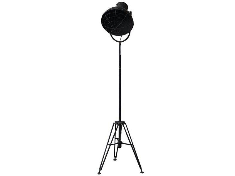GeWoon Vloerlamp Zwart/Metaal - 175 cm