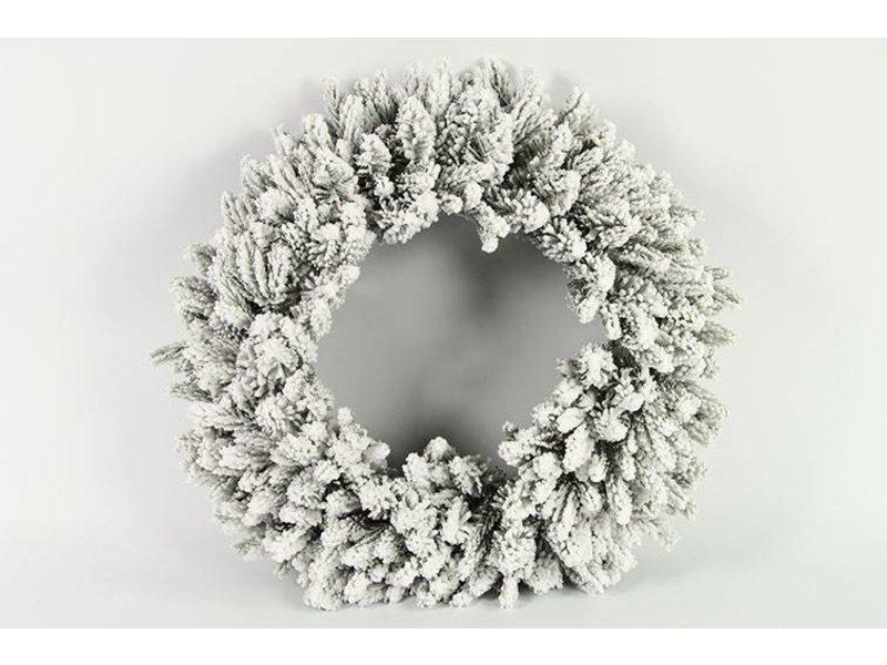 Countryfield Dennenkrans Snowy L wit - 60 cm