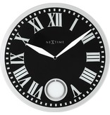 Nextime Wandklok Romana zwart - Ø 43 cm