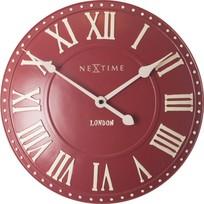 Wandklok London Roman rood - Ø 34 cm