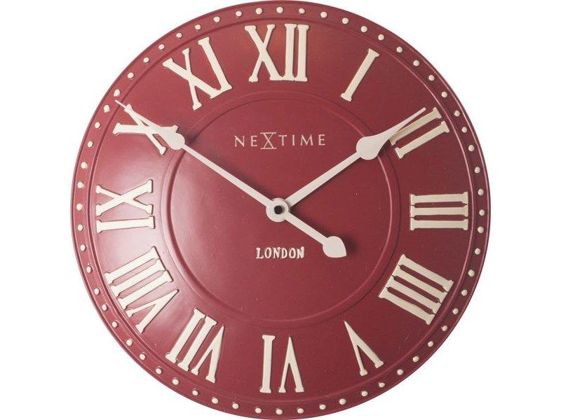Nextime Wandklok London Roman rood - Ø 34 cm
