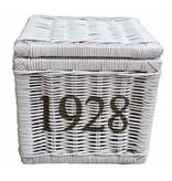 GeWoon Vierkante witte rieten mand M - 1928