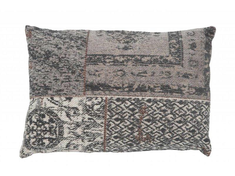 J-Line Sierkussen Chenille grijs - 40x60 cm