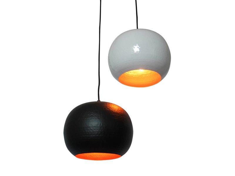 GeWoon Hanglamp Artisan Glossy Wit - 27x21 cm