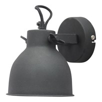 Wandlamp Industrial vintage black - 14x16x19 cm