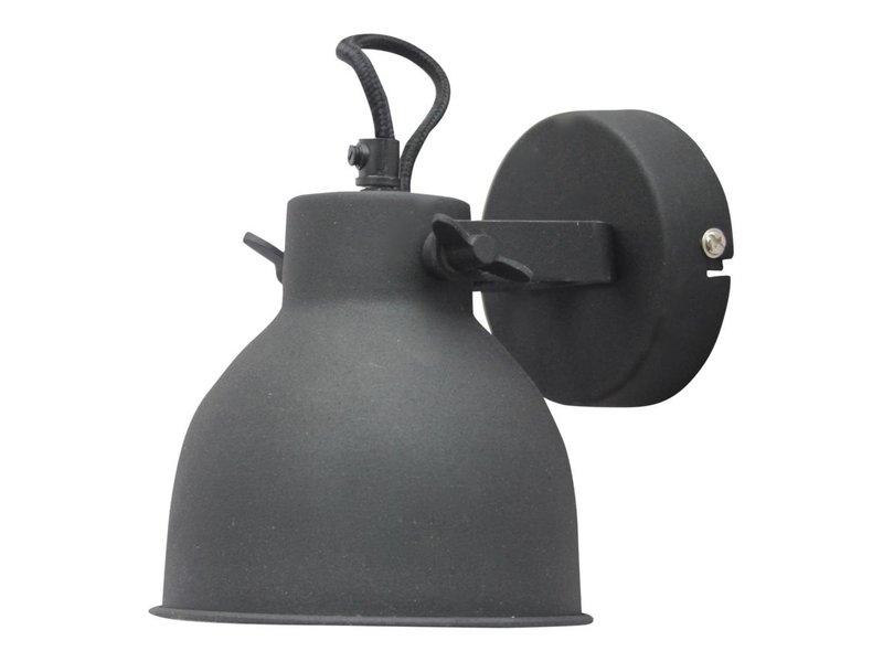 GeWoon Wandlamp Industrial vintage black - 14x16x19 cm