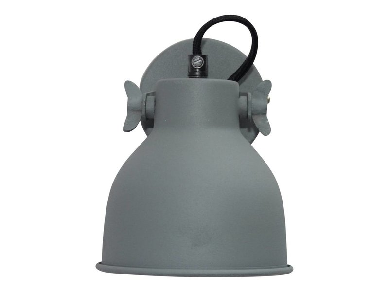 GeWoon Wandlamp Industrial vintage grey - 14x16x19 cm
