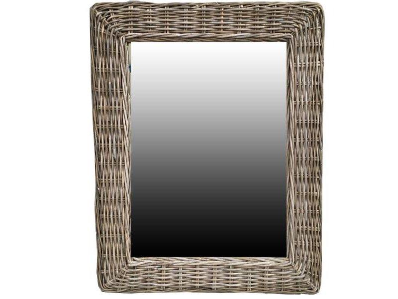 GeWoon Rotan Spiegel - 85x65x3 cm