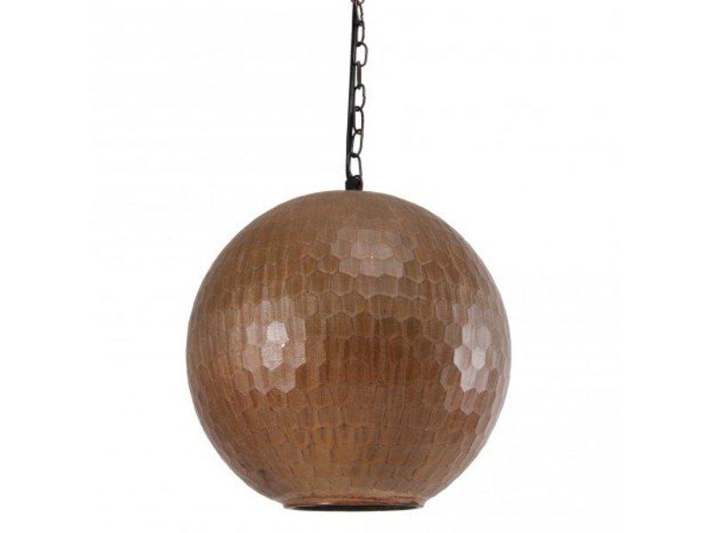 PTMD Collection Koperen hanglamp Honeycomb - Ø25 cm