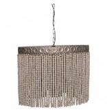 PTMD Collection Hanglamp Witte Kralen - 70x32x62 cm