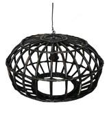 GeWoon Blackwash rotan hanglamp - Ø50xH30 cm
