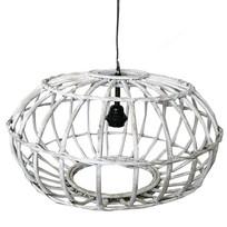 Whitewash rotan hanglamp - Ø50xH30 cm