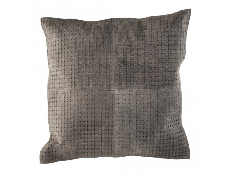 PTMD Collection Sierkussen Bohem leder - 45x45x10 cm