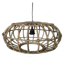 Rotan Hanglamp Greywash - Ø60xH30 cm