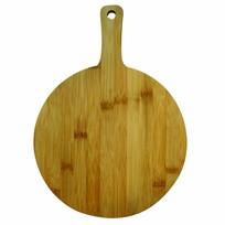 Serveerplank bamboe rond - 25 cm