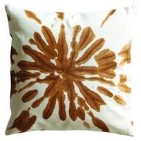 Sierkussen Splash oranje - 45x45 cm