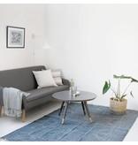 House Doctor Vloerkleed Iza grijs/wit - 160x230 cm