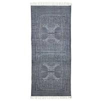 Vloerkleed Iza grijs/wit - 90x200 cm