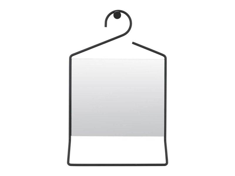 House Doctor Wandspiegel kledinghanger zwart - 32x7x50 cm