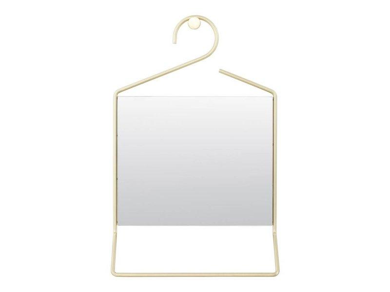 House Doctor Wandspiegel kledinghanger messing - 32x7x50 cm