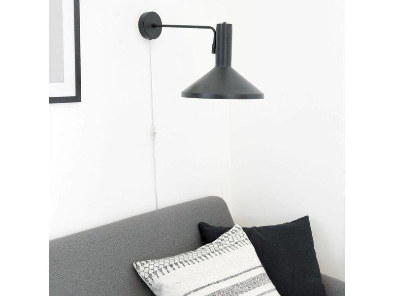 House Doctor Wandlamp Mall Made zwart- 28x23x70 cm