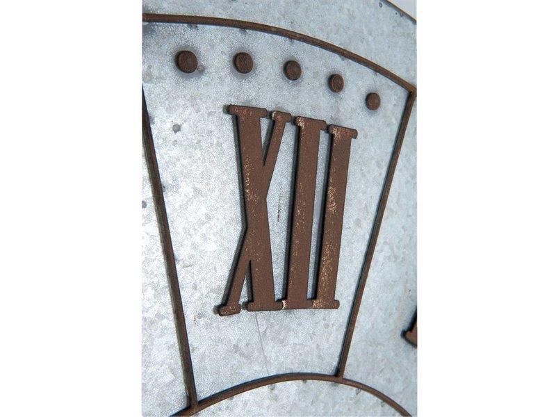 Clayre & Eef Wandklok Metaal/Zink - 105x5 cm