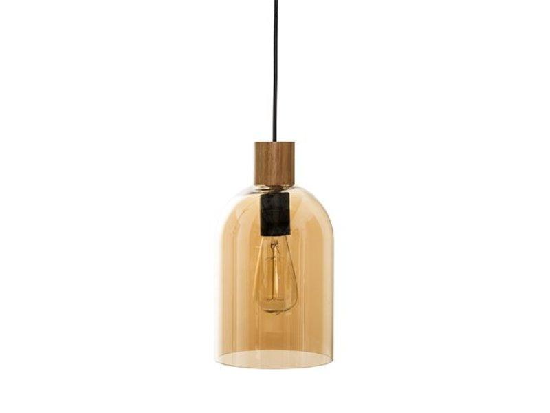 Bloomingville Hanglamp Glas Naturel/Goud - Ø17x22 cm