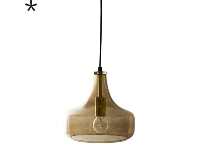 Bloomingville Hanglamp Glas/Bruin - Ø25,5x23 cm