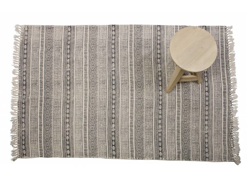 BePureHome Vloerkleed Scribblings grijs - 160x240 cm