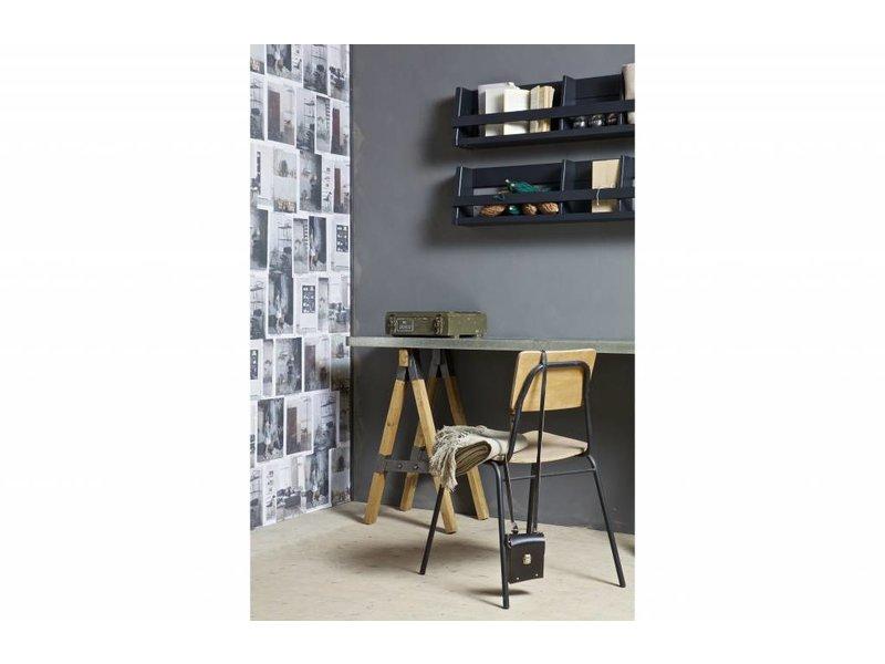 BePureHome Wandrek Shelving zwart - 25x150x15 cm