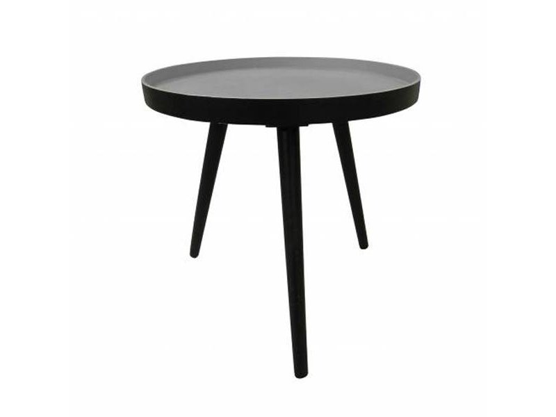 Woood Bijzettafel Sasha zwart - Ø41x40,5 cm