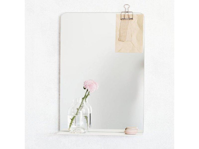 House Doctor Wandspiegel Room wit - 35xH50 cm