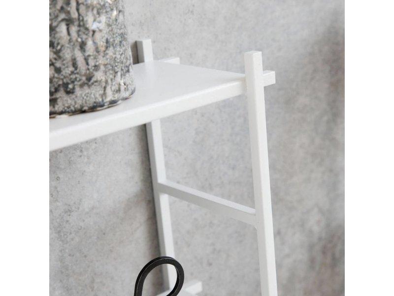 House Doctor Wit metalen rek - 60x15x50 cm
