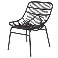 Loungestoel Chat zwart - 83x58x69 cm