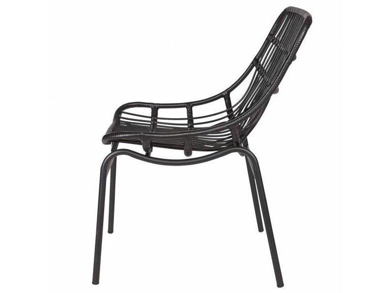 BePureHome Loungestoel Chat zwart - 83x58x69 cm