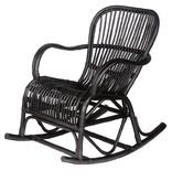 GeWoon Zwarte Rotan Schommelstoel