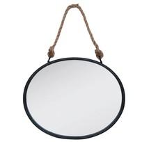 Wandspiegel zwart/ijzer - 50x4x41 cm