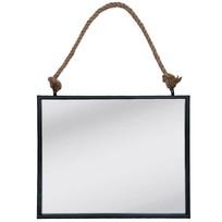Wandspiegel Zwart - 50x4x42 cm