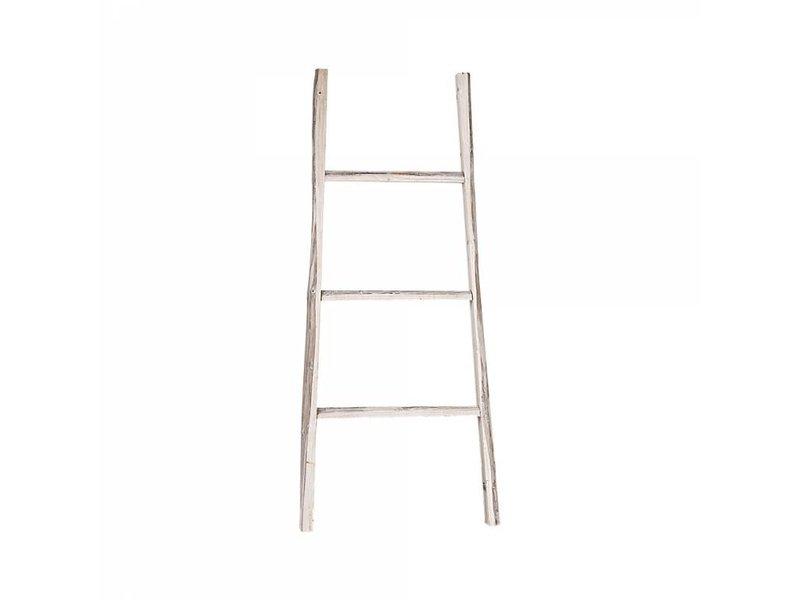 GeWoon Decoratie Ladder Whitewash - 38x110 cm