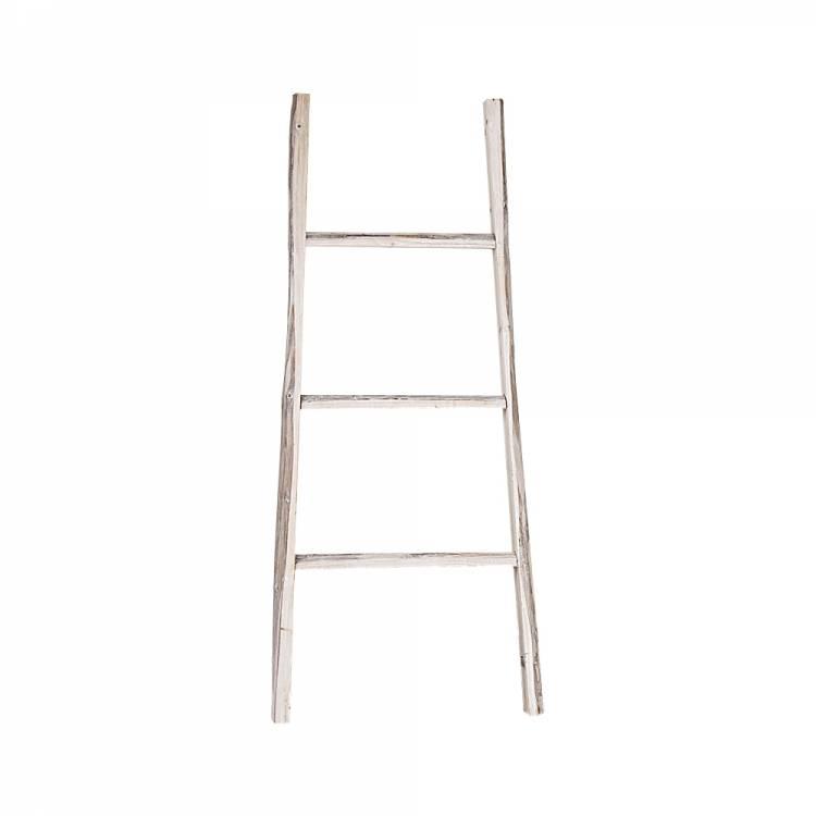 GeWoon Decoratie Ladder Whitewash 38x110 cm