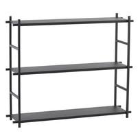 Zwart metalen rek - 60x15x50 cm